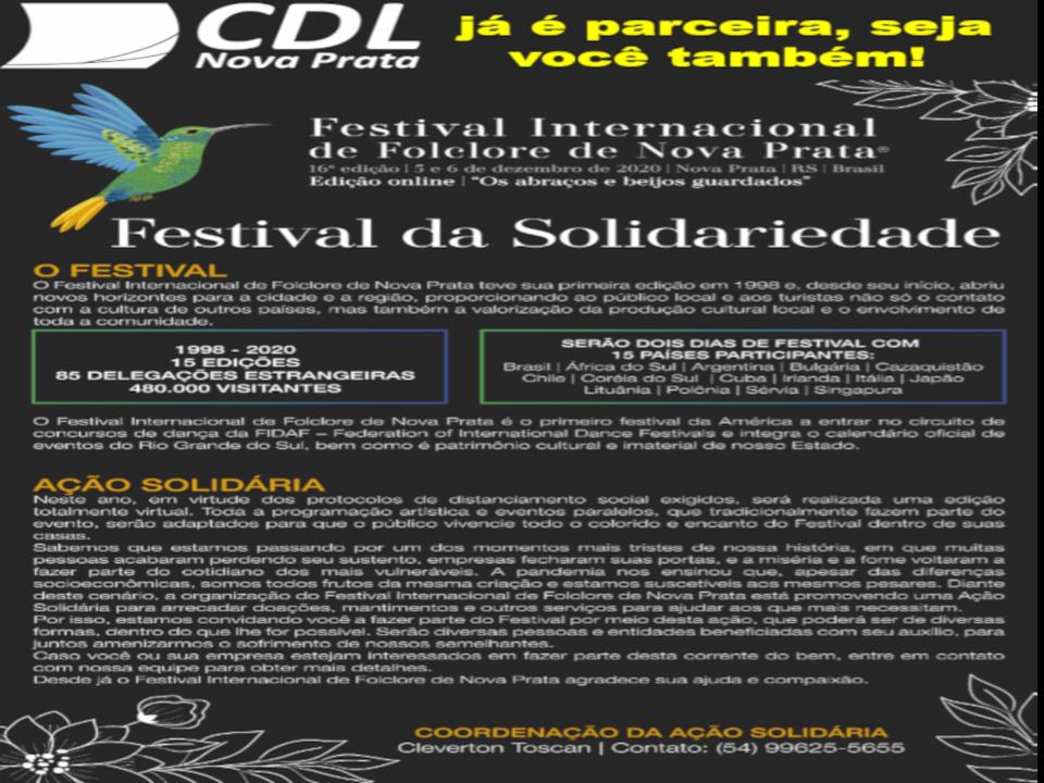 CDL Parceira do Festival Internacional de Folclore e Ação Solidária do Festival